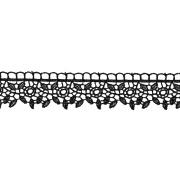 Гипюр GGM-3001 30 мм, черный, 1 метр