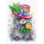 """Набор для вышивания №429 """"Денежный мышонок"""" 13 х 18 см"""