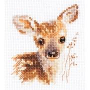 """Набор для вышивания  0-195 """"Животные в портретах. Олененок"""" 9х7 см"""