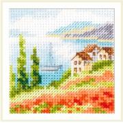 """Набор для вышивания Алиса """"Маки у моря"""" 0-199 7х7см"""