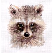 """Набор для вышивания  0-208 """"Животные в портретах. Енотик"""" 8х7 см"""