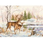 """Набор для вышивания Алиса 3-28 """"У лесного озера"""" 17х23 см"""