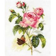 """Набор для вышивания """"Роза и бабочка"""" 2-13 17х25 см"""
