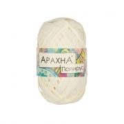 """Пряжа ARACHNA """"Papyrus"""" 100% целлюлоза 40 г 50 м №10 молочный"""