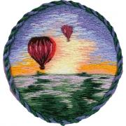 """Набор для вышивания JK-2185 """"Брошь.Воздушные шары"""" 5,5 x 5,5 см"""