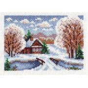 """Набор для вышивания """"Избушка в снегу"""" ПС-1092 13х9см"""