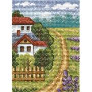 """Набор для вышивания """"Лавандовое поле"""" ПС-1154 9х13см"""
