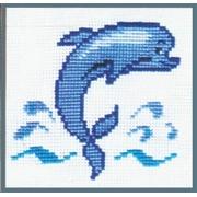 """Набор для вышивания """"Дельфин"""" Д-04 15х15см"""