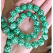Битый (сахарный) кварц 10мм (4шт.) зеленый