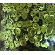 Пайетки 6 мм 10 г салатовые