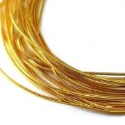 Канитель мягкая 0.5мм yellow gold (5грамм) 0023