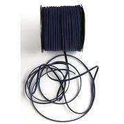 Шнур бархатный 2,5х1 мм (2 метра) т.синий