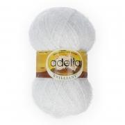 "Пряжа ""BRILLIANT"" 01 (Adelia) белый, 50 гр."