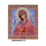 """Ткань с рисунком для вышивания бисером БИС 9007 """"Богородица Семистрельная"""" А4"""