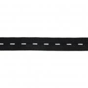 Лента эластичная 20мм перфорированная 0120 (2метра) черный