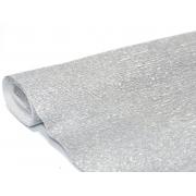 Гофрированная бумага 140г/м2 №912 0.5х2.5м Серебро (Италия)