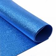 Фоамиран глиттерный 2мм 20х30см синий