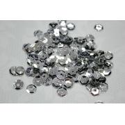 Пайетки ZC 6 мм 10 г Серебро №01