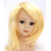 Волосы для кукол прямые d4-5см, П30, белые