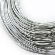 Канитель жесткая 1.25мм Silver 0218 (1метр)