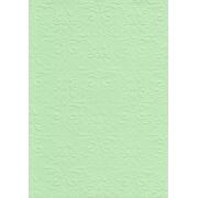 """Бумага с тиснением А4 """"Дамасский узор"""" светло-зеленый (1лист)"""