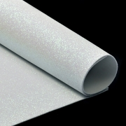 Фоамиран глиттерный 2мм 20х30см белый
