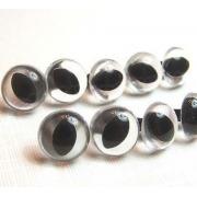 Глазки пластик 12 мм винтовые прозрачные (пара)