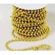 Бусины на нити PSB-03 5 мм золото (3 метра)