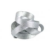 Лента металлизированная парчовая MR-10 10мм (5 метров) серебро