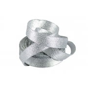 Лента металлизированная парчовая MR-20 20мм (3 метра) серебро