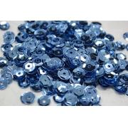 Пайетки ZC 6 мм 10 г голубой №39