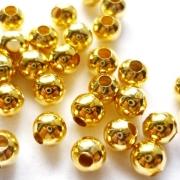 Бусины металлические DC-041 3.5мм (50шт.) золото