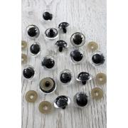 Глазки безопасные 30 мм винтовые с заглушками, прозрачные (пара)