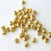 Бусины обжимные на кримпы (10шт.) золото