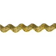 """Лента отделочная  """"ЗИГ-ЗАГ""""  5 мм  под золото 1 метр"""