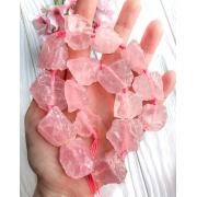 Природный кварц необработанный розовый