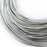 Канитель жесткая 1мм Silver 0042 (1метр)
