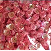 Пайетки 6 мм 10 г розовый перламутр