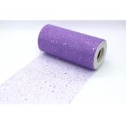 """Фатин с пайетками """"Горох"""" ширина 15см (2метра) фиолетовый"""