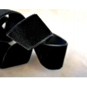 Лента бархатная 20 мм черная 039 (1 м)