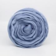 Шерсть для валяния полутонкая Троицк (50г) 2030 пепельно-голубой