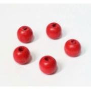 Бусины дерево HBO-03 10 мм (25 шт.) красные