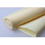 Гофрированная бумага 140г/м2 №977 0.5х2.5м Лимонно-кремовая (Италия)