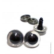 Глазки безопасные16 мм винтовые с заглушками, белый (пара)