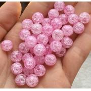 Битый (сахарный) кварц 6мм (10шт.) ярко-розовый