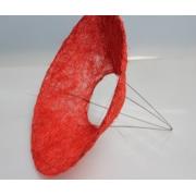 Каркас для букета гладкий (сизаль), красный, d=15см