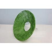Каркас для букета гладкий (сизаль), зеленый, d=15см