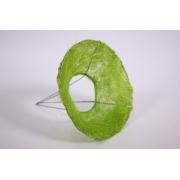 Каркас для букета гладкий (сизаль), зеленое яблоко, d=15см