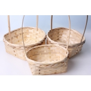 Корзина плетеная бамбук d19xh9/32см натуральный