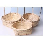 Корзина плетеная бамбук d22xh9.5/34см натуральный